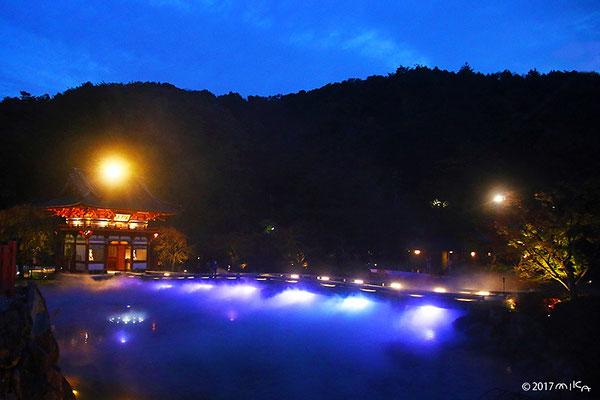 勝尾寺の夜間特別ライトアップ①