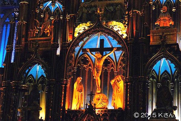 モントリオール・ノートルダム聖堂(カナダ)の内装 大阪府Kさん