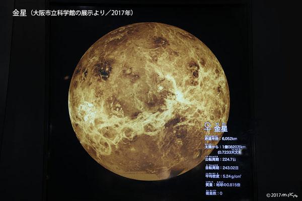 金星(写真は大阪市立科学館の展示より/2017年)