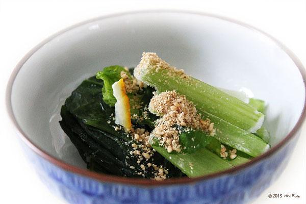 冷凍かんたん小松菜のおひたし