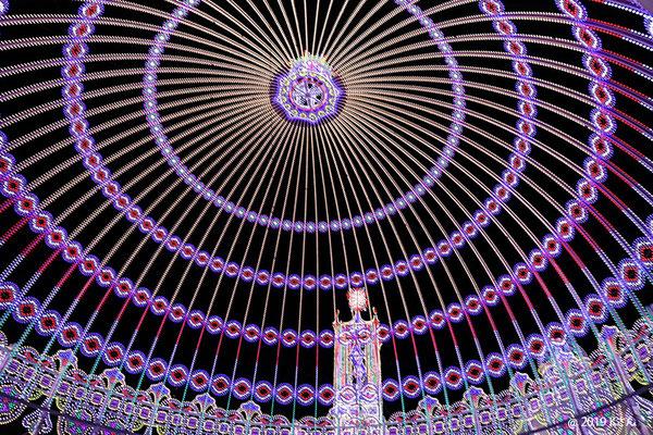 ドームを見上げて(神戸ルミナリエ2019)兵庫県Kさん写真提供