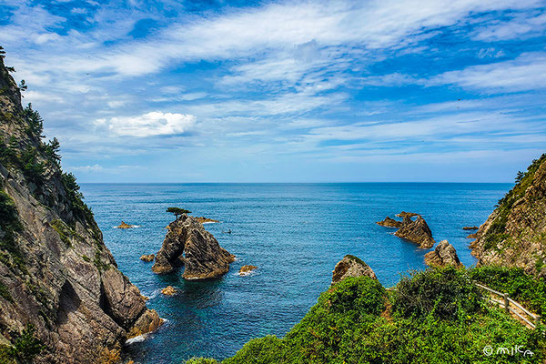 千貫松島の景色(山陰海岸ジオパーク)