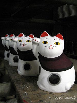 招き猫(今戸焼/白井工房)