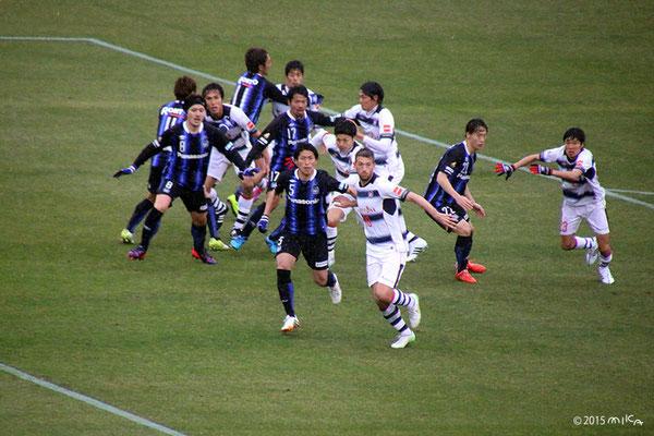 サッカー開幕戦(2015年3月7日)