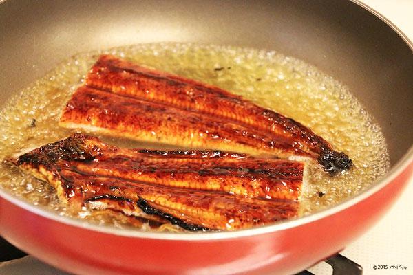 ④弱火で1~2分煮ます