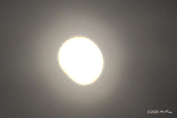 部分日食(2020年6月21日17時07分頃)