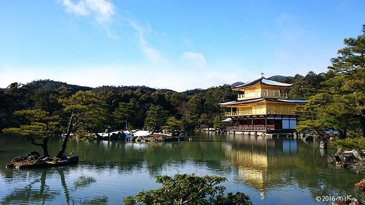 雪の金閣寺(2016年1月20日/はじめて雪が積もった日)