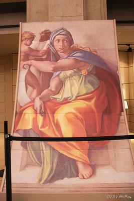 「デルフォイの巫女」を目の高さで見た絵(大塚国際美術館)