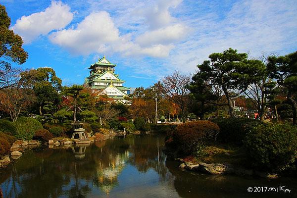 大阪城の日本庭園(12月上旬)