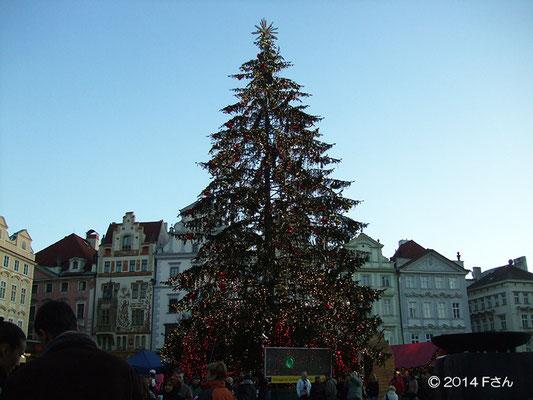 広場のクリスマスツリー(チェコ)兵庫県Fさん