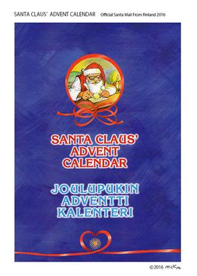 フィンランド・サンタ郵便局 オリジナルアドベントカレンダー表紙(2016年)