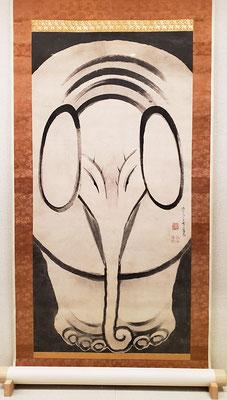 伊藤若冲「象図」(東京富士美術館所蔵/2019年京都文化博物館にて撮影許可)