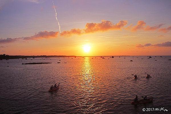 佐和田の浜の夕日①(下地島)
