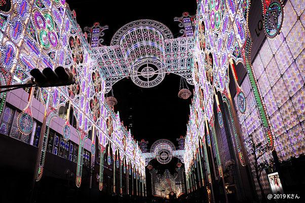 フロントーネ(神戸ルミナリエ2019/仲町通り)②(兵庫県Kさん写真提供)