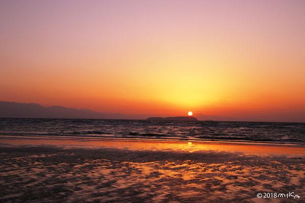 父母ヶ浜の夕陽②