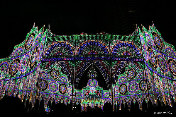 スパッリエーラ「心の冠」②(神戸ルミナリエ2015年)