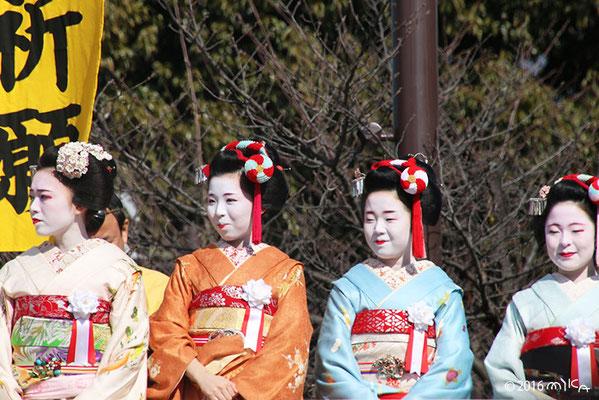 舞妓さんたち(成田山節分祭2016