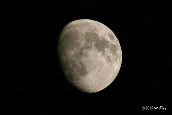 十日余りの月(2015年10月24日18時頃)
