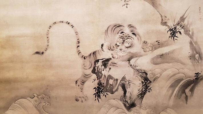 狩野尚信「猛虎図」(2019年京都文化博物館にて撮影許可)