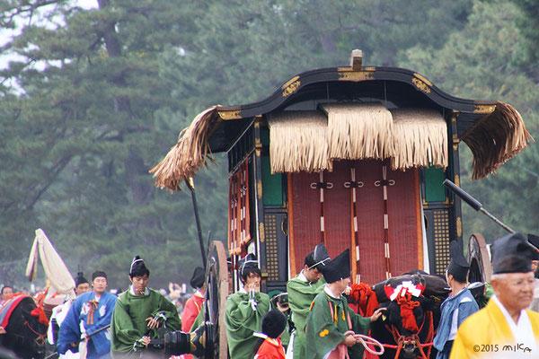 豊公産朝列の牛車(安土・桃山時代)