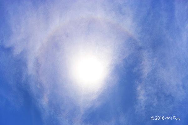 晴れ間に日暈(5月)