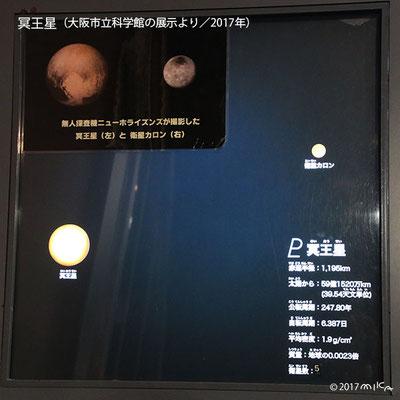 冥王星(写真は大阪市立科学館の展示より/2017年)