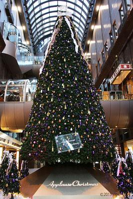 アプローズタワーの10mのクリスマスツリー(2015年)