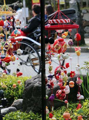 変わり下げ飾り(京都嵐山「ちりめん細工館」の玄関)