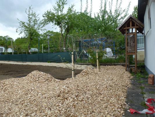 Die Obstbäume sind schon gepflanzt. Foto: Heike Hirth
