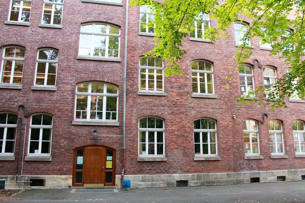 Der Eingang für unsere Schüler