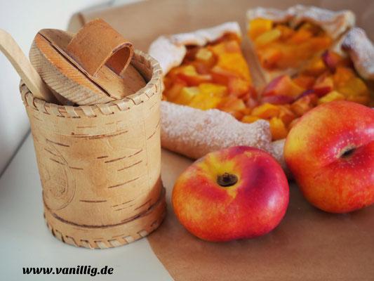 Mango Galette, Nektarinen, galette, mango , nektarinen, mango galette, tropische galette, kuchen mit mango und nektarinen