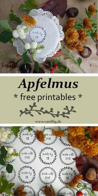 apfelmus, rezept, diy, freebies, etiketten, bastelidee, freeprintables, freebie, free printables
