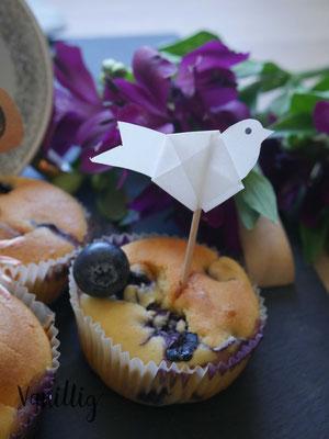 blaubeeren, muffins, blaubeerenmuffins, diy picker, diy dekoration für torte