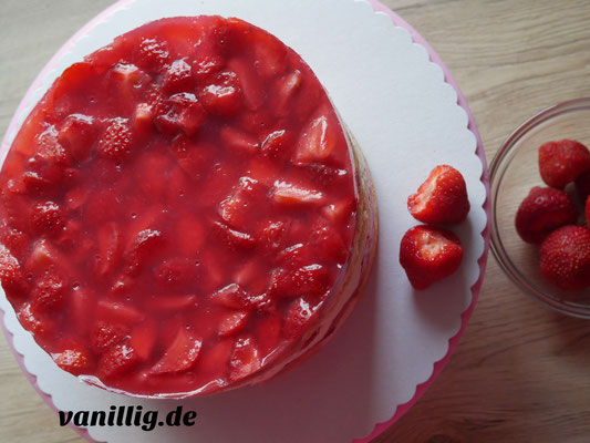 torte, fraisier, erdbeeretorte, erdbeere