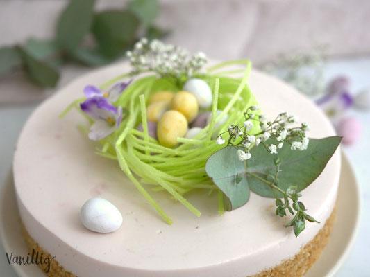 Käsekuchen ohne Backen aus 5 Zutaten zu Ostern
