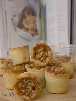 Rezept für Kekse mit selbstgemachtem Nuss Karamell