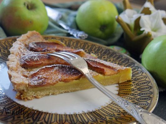 Apfeltarte, Tarte, Apfel, Rezept mit Apfel, Rezept Tarte, Kuchen, Apfelkuchen
