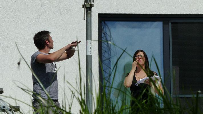 3. Bauherren beim Aufbau Ihres Terrassendachs