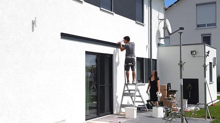 Abdichten vom Wandanschluss zwischen Haus und Terrassendach