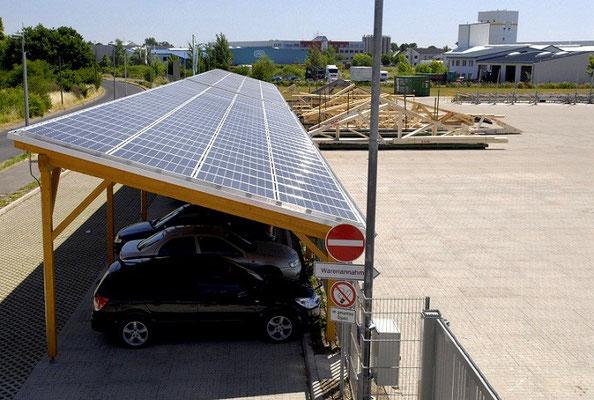 Solarcarport Opitz Zukunftsfabrik