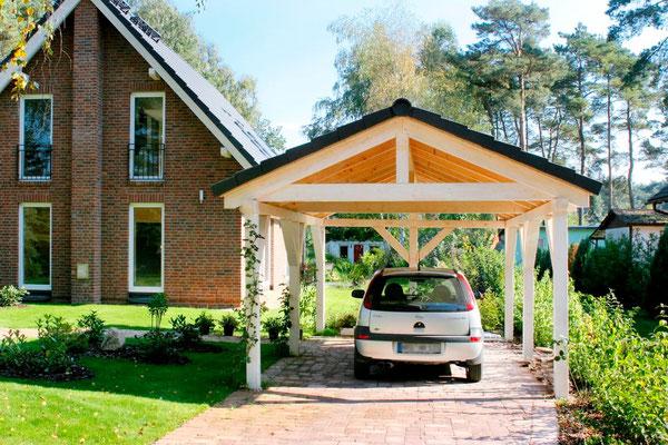 Carport mit Dachziegel