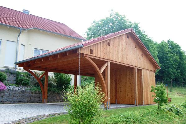 Carport mit Dachboden