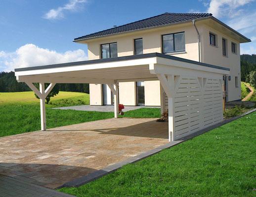 carport flachdach bilder solarterrassen carportwerk gmbh. Black Bedroom Furniture Sets. Home Design Ideas