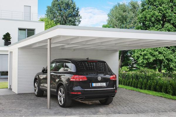 Design Flachdach Carport nach Ihren Wünschen