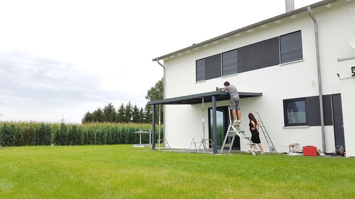solar terrassendach bausatz alu solarterrassen. Black Bedroom Furniture Sets. Home Design Ideas