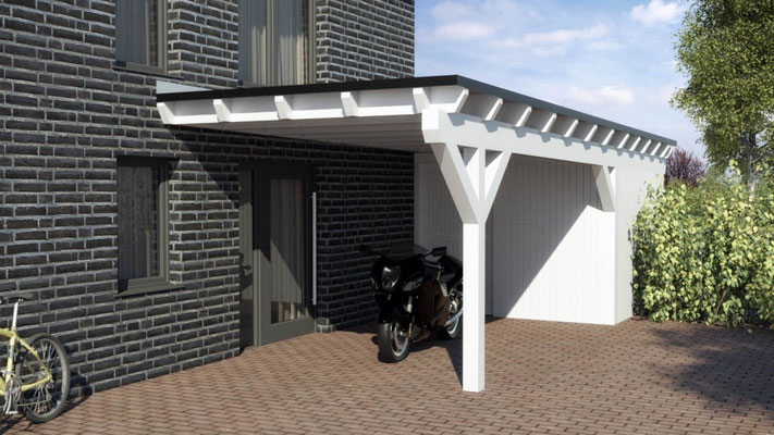 Carport Wandmontage