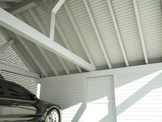 Premium Spitzdach Carport