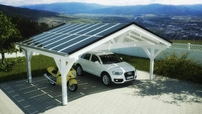 Carport mit Solar