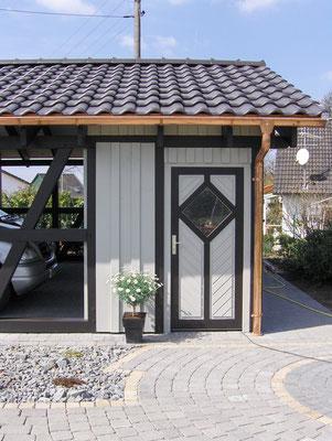 Carport mit Geräteraum
