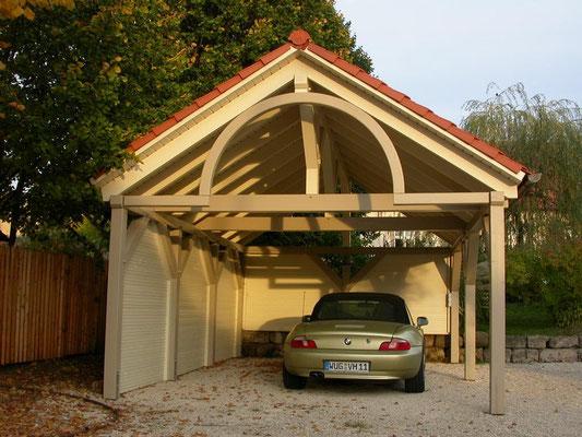 Carport mit Spitzdach